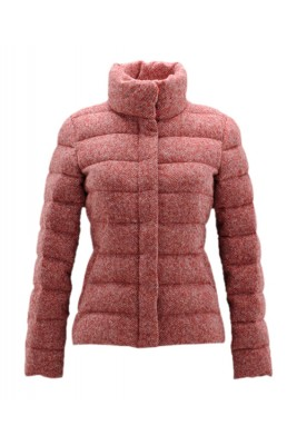 Moncler Cardere Classic Down Jackets Women Stand Collar Red