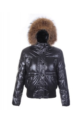 Moncler Classic Women Down Jacket Single-Breasted Slim Black