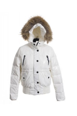 Moncler Classic Women Down Jacket Single-Breasted Slim White