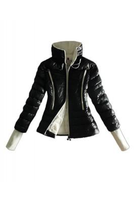 Moncler Design Down Womens Jackets Long Sleeve Zip Black
