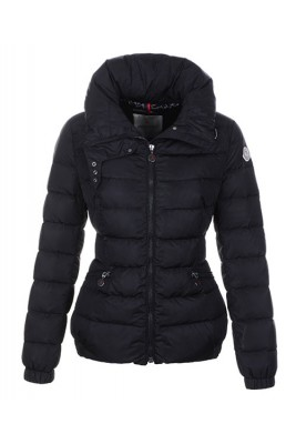 Moncler Epine Jackets For Womens Windproof Collar Zip Black
