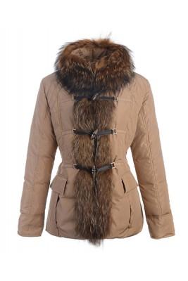 Moncler Grillon Fashion Jackets Women Down Khaki