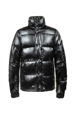 2016 Moncler Ever Mens Down Jacket Button Buckle Black