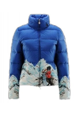 Moncler Illustrated Top Quality Jacket Women Blue Short