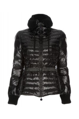 Moncler Lierre Top Quality Women Jackets Sweater Collar Black