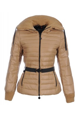 Moncler Lierre Top Quality Women Jackets Sweater Collar khaki