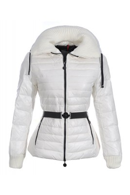 Moncler Lierre Top Quality Women Jackets Sweater Collar White