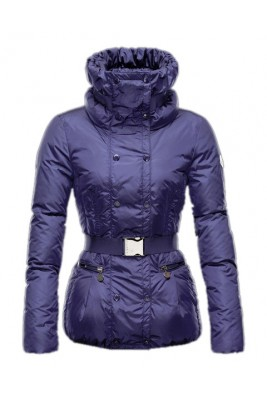 Moncler Phalene Womens Jackets Collar Decorative Belt Purple