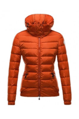 Moncler Sanglier Popular Jackets Womens Zip Collar Orange