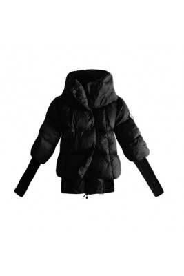 Moncler Winter Down Jackets Womens Short Long Sleeve Black