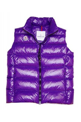 Cheap Moncler Down Sleeveless Vest Women Zip Violet