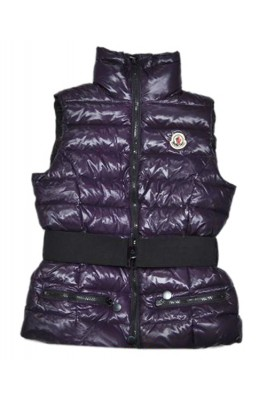 Moncler Branson Women Down Vest Belt Decorative Purple