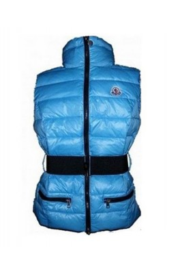 Moncler Classic Down Vest Sleeveless Women Zip Blue