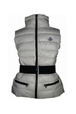 Moncler Classic Down Vest Sleeveless Women Zip Grey
