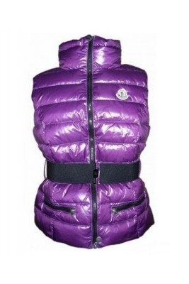Moncler Classic Down Vest Sleeveless Women Zip Purple