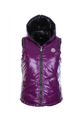Moncler Womens Sleeveless Vests Double-Sided Violet