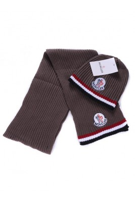 Moncler Scarf & Caps Pure Cotton Coffee