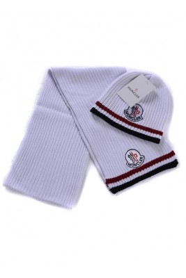 Moncler Scarf & Caps Pure Cotton White