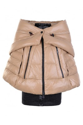 Moncler Women Zip Shawl Style Khaki