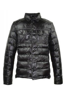 2016 Moncler Gregoire Down Jackets For Men Button Black