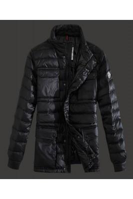 2016 Moncler Arnoux Down Jacket Men Stand Collar Black