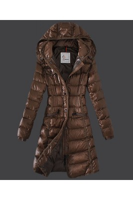 2016 Moncler Hermine Down Coats Womens Windproof Coffee