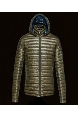 2016 Moncler Lionel Mens Down Jackets Zip Hooded Army Gree