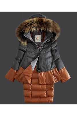2016 Moncler Miwako Down Coats Womens Hooded Gray