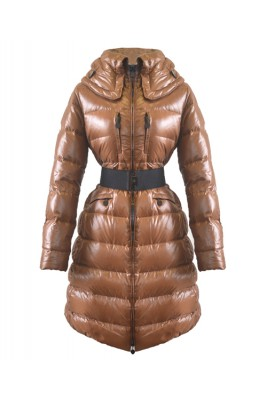 2016 Moncler Passy Women Coat Winter Long Brown