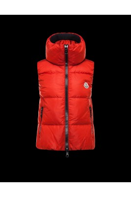 2016 Moncler PETY Top Quality Womens Down Vests Red