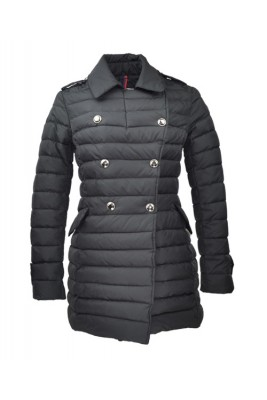 2016 Moncler Seon Euramerican Style Coat For Women Black