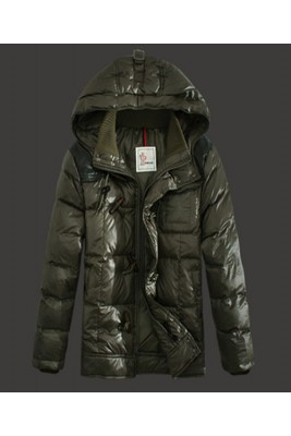 2016 Moncler Virgile Mens Down Jackets Hooded Army Green