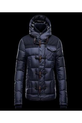 2016 Moncler Virgile Mens Down Jackets Hooded Blue