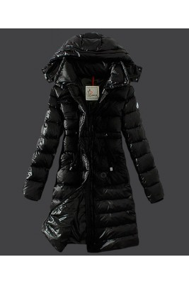 2016 Moncler Winter Down Coat Women Hooded Slim Black