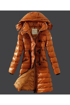 2016 Moncler Winter Down Coat Women Hooded Slim Yellow