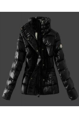 2016 Moncler Womens Down Jackets Stand Collar Black