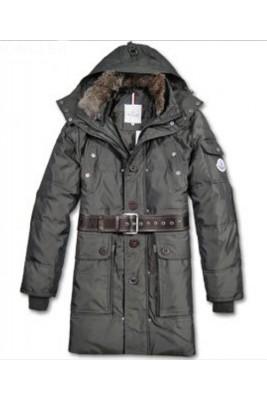 Moncler Down Coats Mens Mid-Length Hooded Grey
