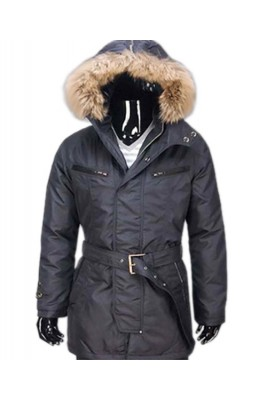 Moncler Mens Long Coat Black Down