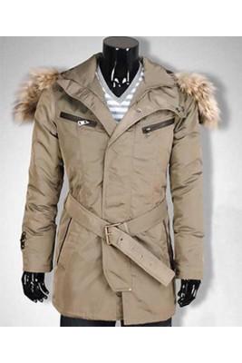 Moncler Mens Long Coat Cream Down