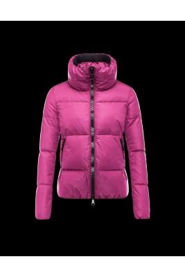2016 Moncler CHERY Jacket For Women Zip Collar Fuchsia