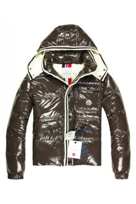 Moncler Branson Classic Men Down Jackets With Hat Coffee