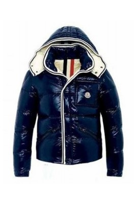 Moncler Branson Classic Mens Down Jackets Dark Blue Short