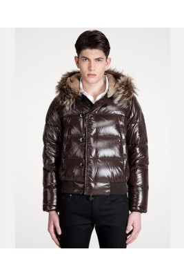 Moncler Bulgarie Men Down Jackets Top Quality Short Brown
