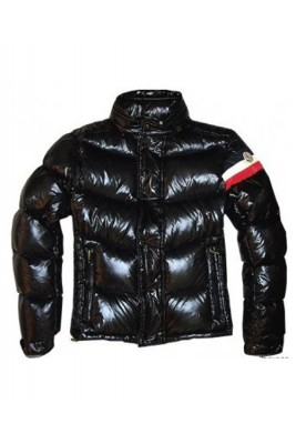 Moncler Chamonix Down Jackets Men Buttons Black Short
