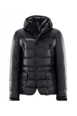 Moncler Men Jacket Down Breasted Style Classic Black