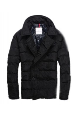 Moncler Top Quality Down Jacket Handsome Men Button Black
