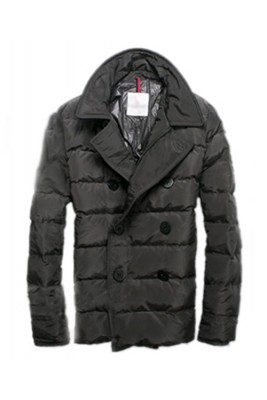 Moncler Top Quality Down Jacket Handsome Men Button Grey