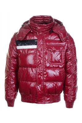 Moncler Winter Classic Men Jackets Fabric Smooth Shiny Red