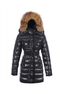 Moncler Armoise Coat For Women Black Long