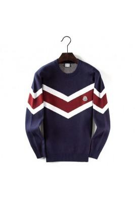 2018 Moncler Sweater For Men 162538 Black White Dark Blue White Gray White